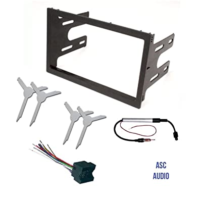 ASC Audio Car Stereo Dash Kit, Wire Harness, Antenna Adapter, and Radio Remove Tool for installing a Double Din Radio for select VW Volkswagen Vehicles - Compatible Vehicles Listed Below: Car Electronics