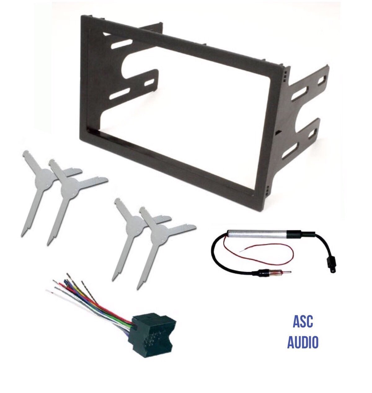 Asc Audio Car Stereo Dash Kit Wire Harness Antenna Adapter And Automotive Wiring Tools Radio Remove Tool For Installing