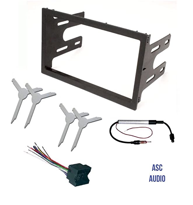 ASC Audio Car Stereo Dash Kit, Wire Harness, Antenna Adapter, and Radio Remove Tool for installing a Double Din Radio for select VW Volkswagen Vehicles - Compatible Vehicles Listed Below