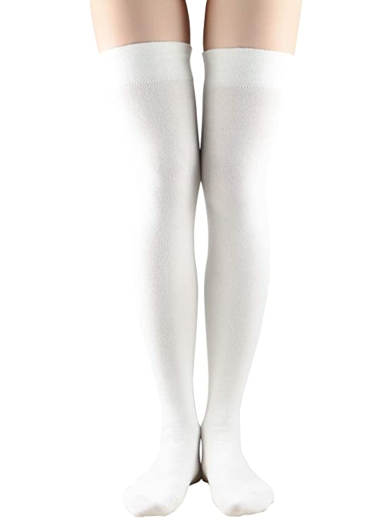 1960s – 1970s Lingerie & Nightgowns Women Non Slip Thigh High Socks Fashion Tube Stockings above Knee Cosplay Socks $6.99 AT vintagedancer.com