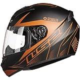 LS2 Helmets - Rookie - Lighter - Matt Black Red - Single Mercury Visor Full Face Helmet - (Medium - 570 MM)