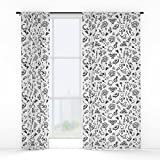 Society6 Modern Witch – White Window Curtains Double Panel