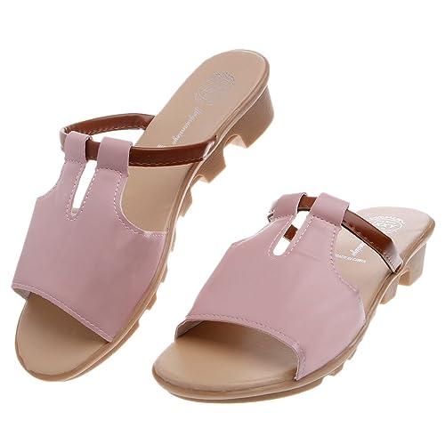 Top-Sell 2017 Verano Moda Baja Muffin Heel Tobogán Deslizamiento En Zapatilla Mujer Sandalias Mocasines