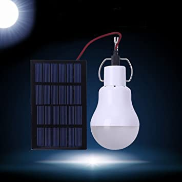 Luz solar, bombilla de LED, Bombilla externa la tienda de camping, lámpara de