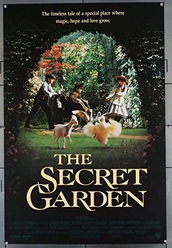 The Secret Garden 1993 Original U S One Sheet Movie Poster 27x41 Rolled Maggie Smith Kate Maberly Heydon Proswe And Andrew Knott Film Directed By Agnieszka Holland At Amazon S Entertainment Collectibles Store