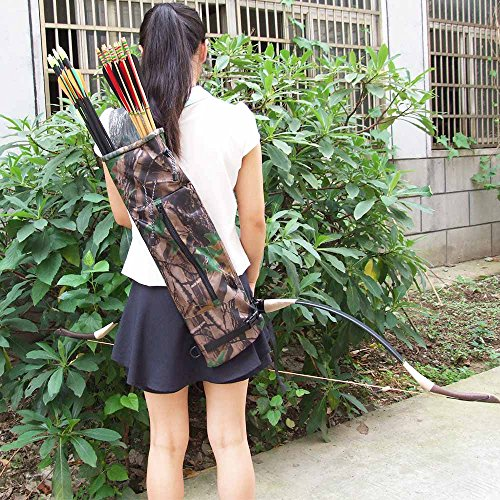 Constructan(TM) Waterproof Ultralight Bundled Processing Leaves Camouflage Bionic Camo Bow Bag/Pouch Arrow Quiver Archery Supplies by Constructan