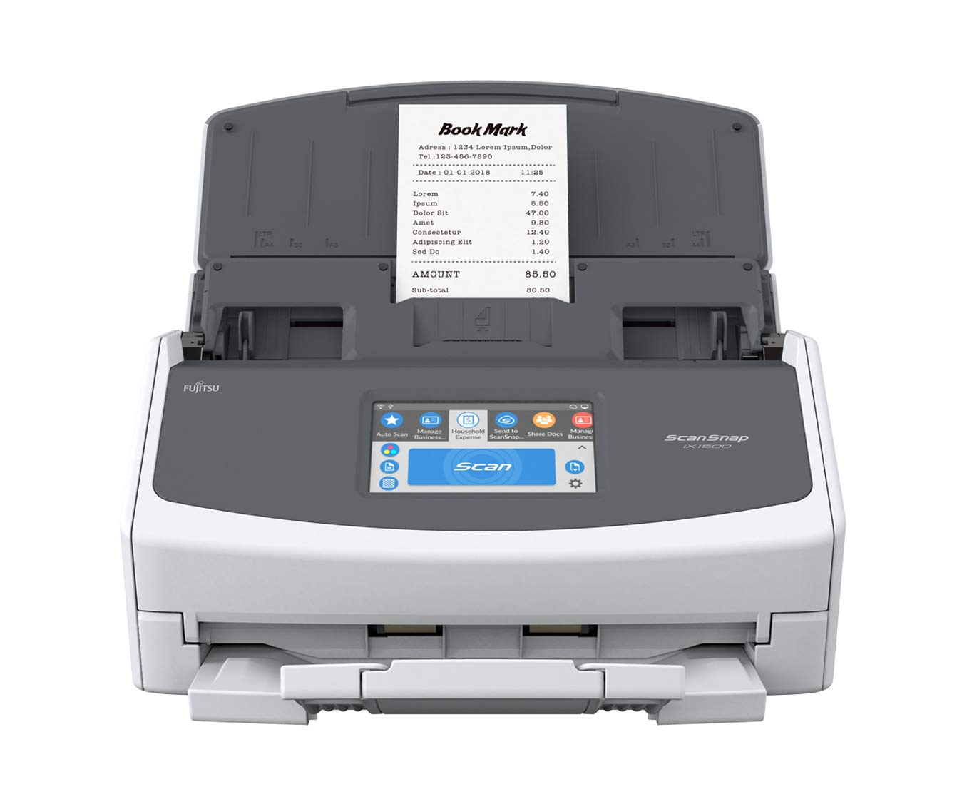 Fujitsu ScanSnap iX1500 Color Duplex Document Scanner with Touch Screen for Mac and PC [Current Model, 2018 Release] by Fujitsu (Image #5)