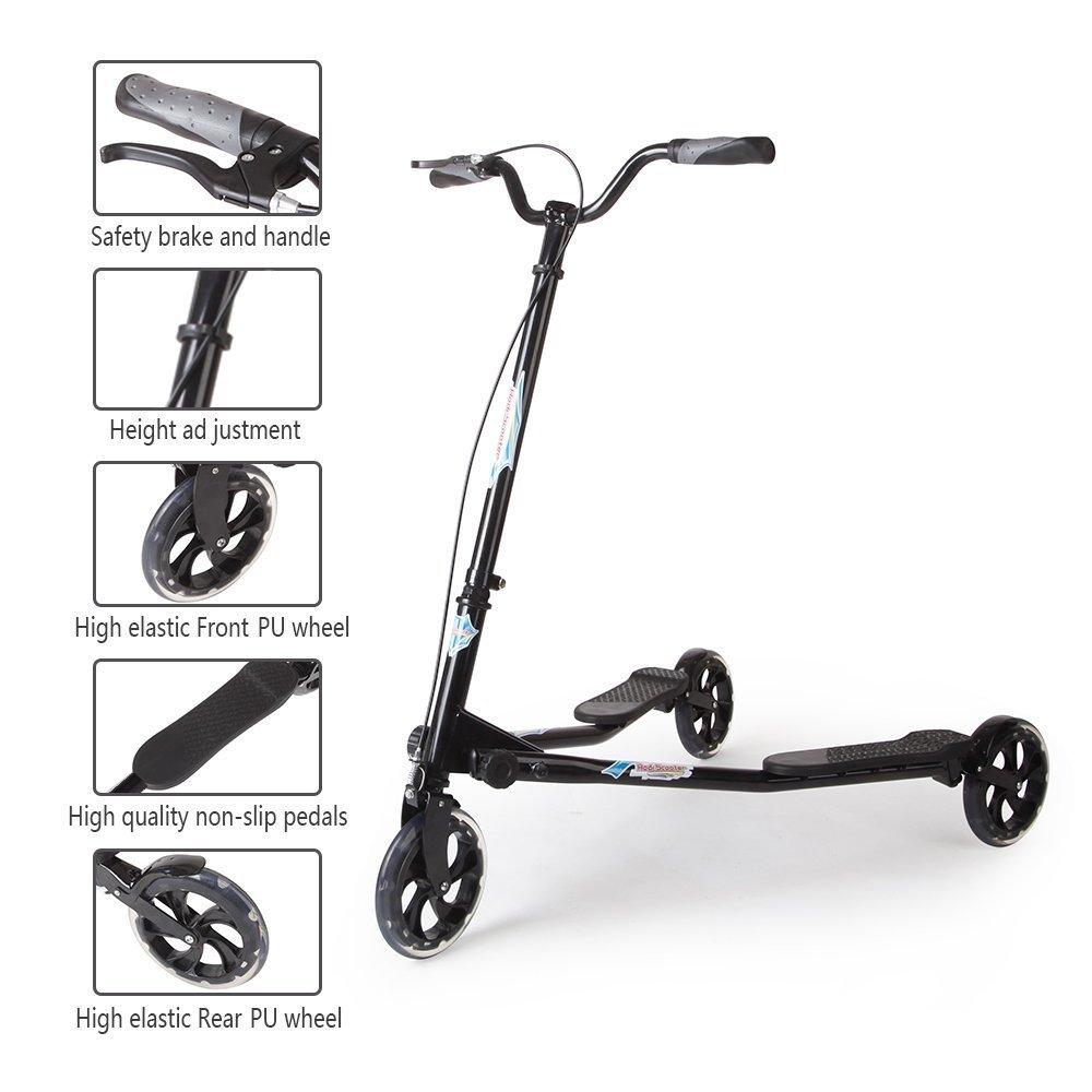 Amazon.com: AODI - Patinete plegable con 3 ruedas para niños ...