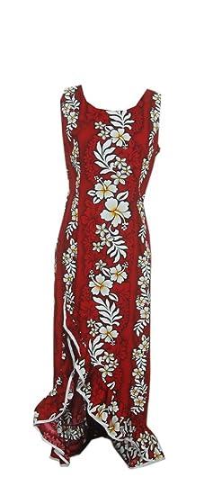 ee113e1e3f03 Jade Fashions Inc. Women s Red Hibiscus Princess Hawaiian Dress-Red-Small