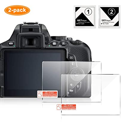 Screen Protector Compatible for Nikon D5600/D5500/D5300: Amazon.es ...