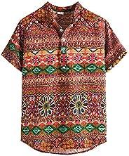 Hawaiian Shirts for Men Short Sleeve Summer Casual Colorful Funny Vintage Polo Tops Tee