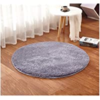 Ultra Soft Microfiber Area Rugs,Fluffy Long Fur Cozy Floor Carpet,Solid Color Anti Slip Kids Playing Yoga Mat,Decorative Solid Shaggy for Teepee, Bedroom,Living Room,Sitting Room Steel Gray 46