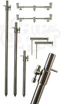 BZS Stainless Steel Bank Stick 15-23cm 30-50cm Banksticks Bankstick Rest Fishing