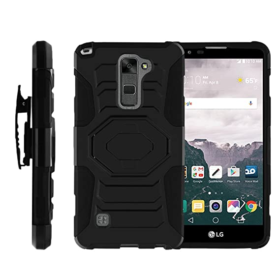 buy popular 08bff fd8bb TurtleArmor | Compatible for LG Stylus 2 Case | LG G Stylo 2 Case [Octo  Guard] Dual Layer Silicone Armor Hard Belt Clip Holster Impact Tough  Kickstand ...