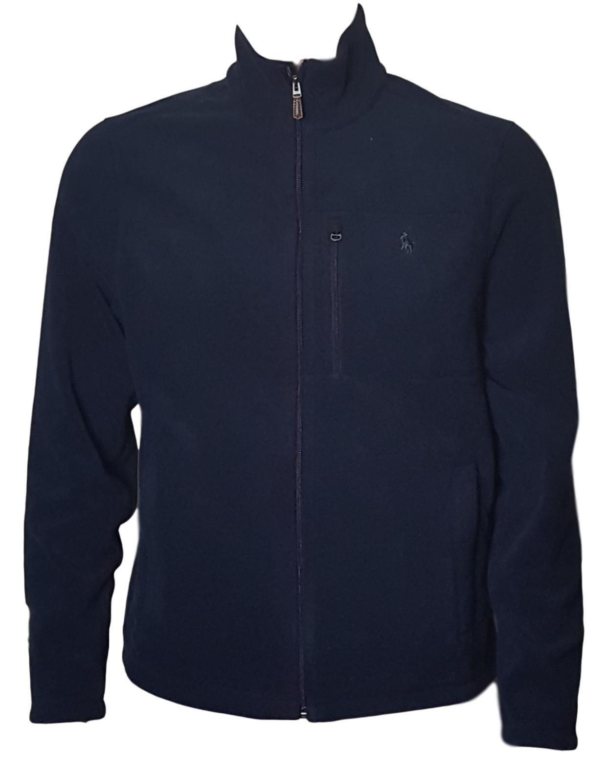 Polo Ralph Lauren Men's Performance Full Zip Fleece Jacket (XL, Navy)