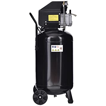 Cypressshop Portable Vertical Air Compressor 21 Gallon 125 PSI Cast Iron 2.5HP Motor Used in