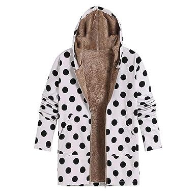Linlink cálido para Mujeres Invierno Abrigos de Ropa Caliente de Punto de impresión con Capucha Bolsillos de Moda Abrigos de Gran tamaño: Amazon.es: Ropa y ...