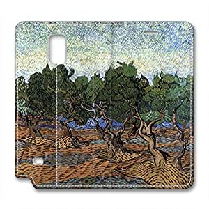 Vincent Van Gogh Design Leather Case for Samsung Note 4 Trees