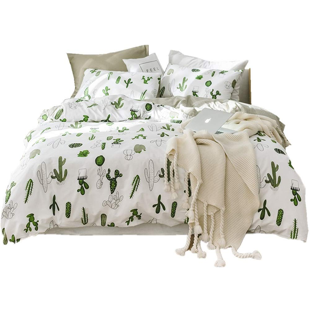 Luxury Soft Cotton 3 Piece Duvet Cover Set Twin Wild Flowers Plants Comforter Quilt Cover Twin Adult Teens Kids Bedding Sets Twin with Hidden Zipper 4 Corners Ties Bedding Collection (Twin, StyleD) EnjoyBridal DC923WMT