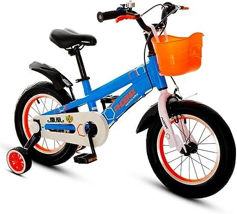 Xiaoping Bicicleta de los niños 2-3-6-7-8-9 años Cochecito de bebé 12/14/16/18 Pulgadas de Bicicletas niños Azul: Amazon.es: Deportes y aire libre