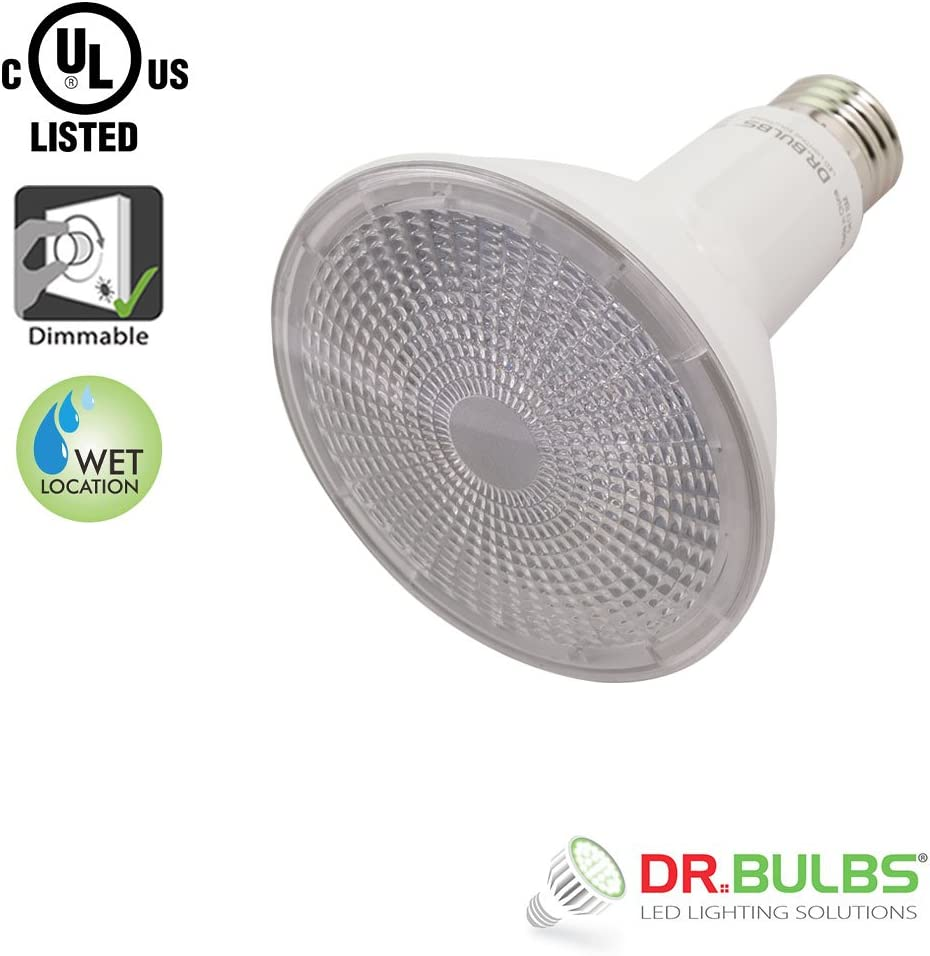 11W PAR30 Long Neck Wet Location Rated Dimmable LED Spot Light Bulb 40/° Beam Angle Bulbs E26 Dr Medium Base Cool White 4000K UL /& CUL Listed 120V AC 75W EQ