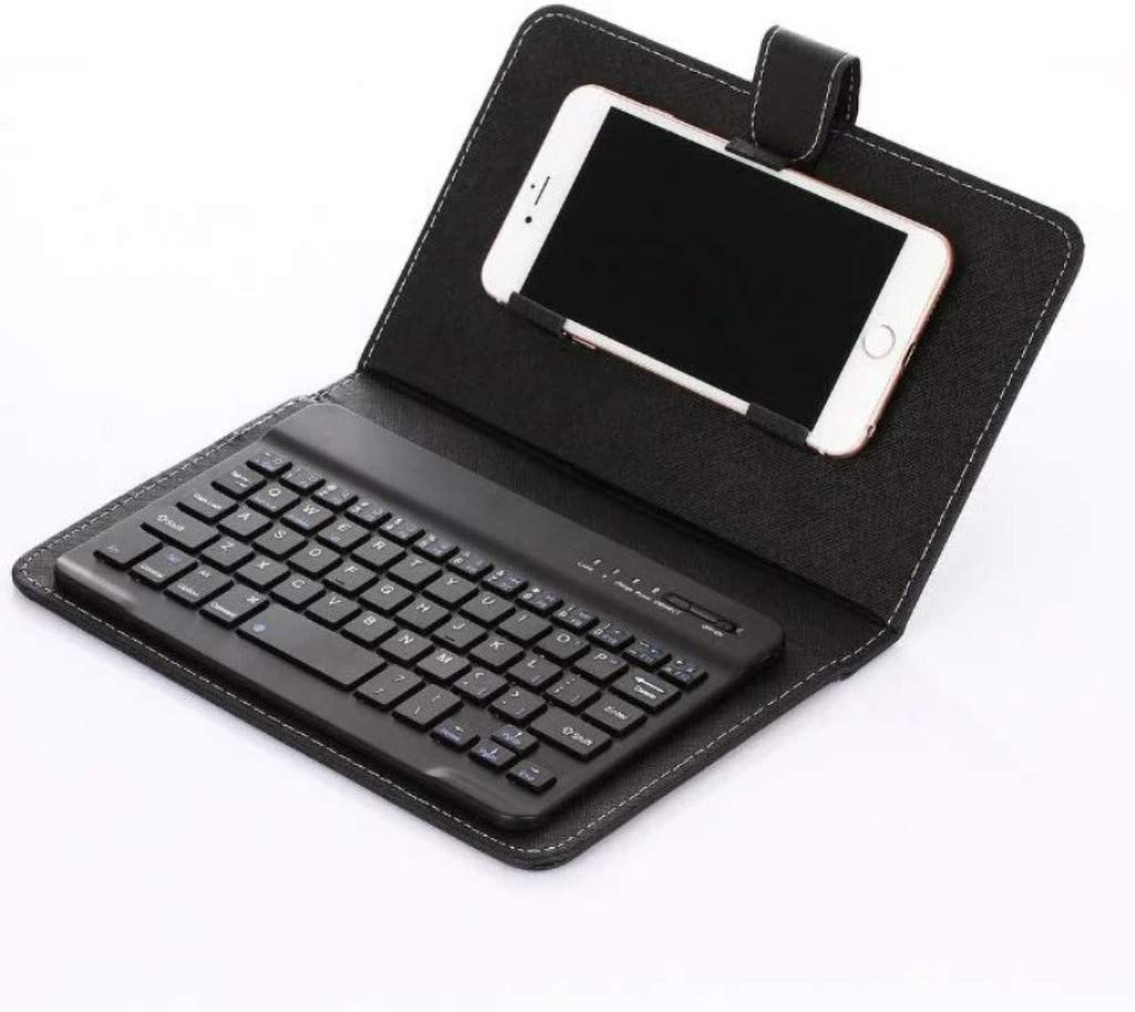 Mobile Phone Case with Keyboard-2020 [Support Apple Pencil Charging] Magnetically Detachable Wireless Keyboard (Black)