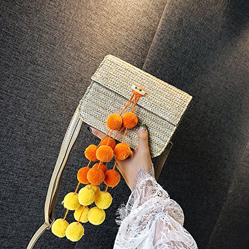 Female Over Bag New Summer Small Straw Single Fashion Shoulder Yellow All Simple 2018 Bag qxpRUA