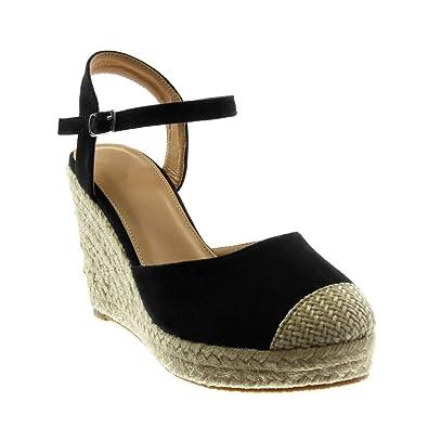 Sandalen Knöchelriemen Schuhe Angkorly Damen Espadrilles A4Rj35Lq
