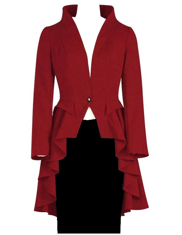 9a1c4c5ccb Soft medium weight fabric (not a winter coat) Waterfall ruffle   peplum  front
