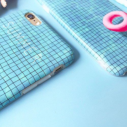 Funda para iPhone 7 8, Vandot TPU Silicona Pintado Funda para iPhone 7 8 Patrones de Pintura Case Suave Flexible Silicone Gel Paisaje Cajas de Teléfono móvil para iPhone 7 / iPhone 8 4.7 - Volcán y E Swim 01