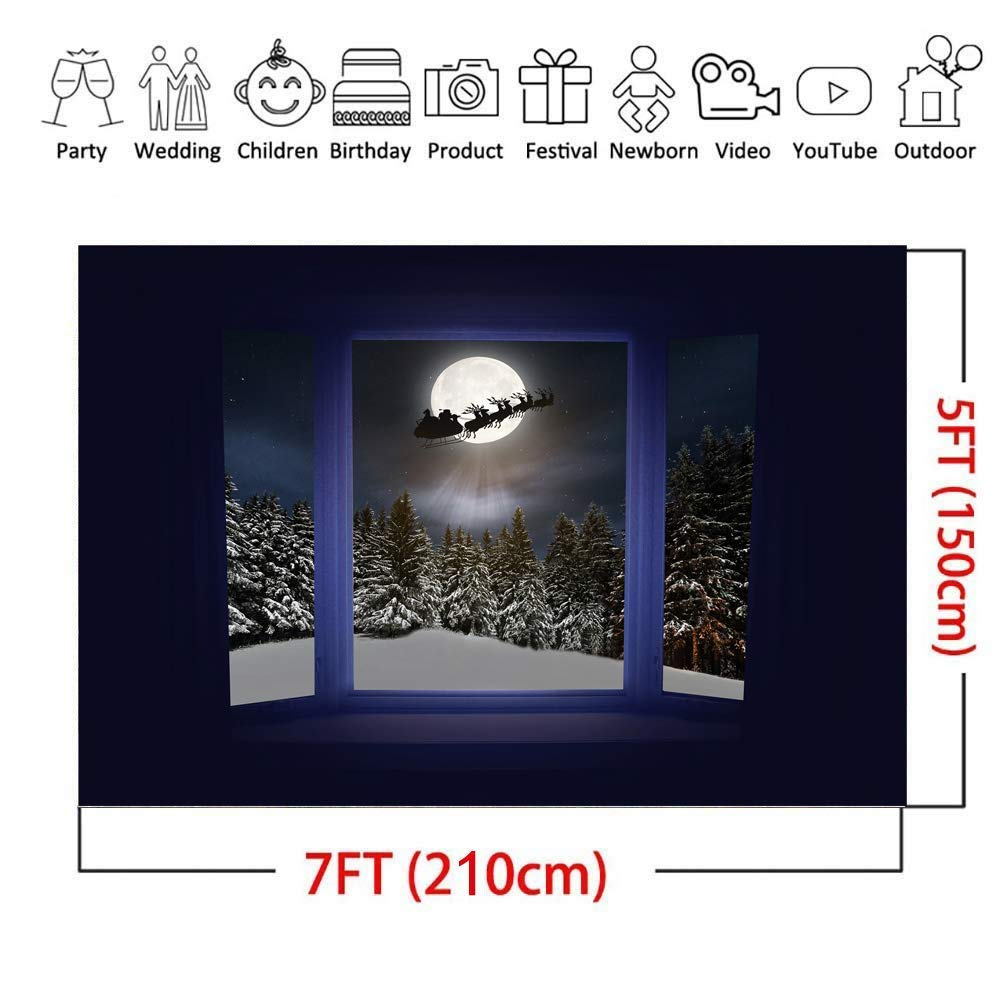 7 x 5 ft Blanco Nieve Fondo fotograf/ía Blanco /árbol de Frozen Fondo de Invierno para ni/ños Fotos Fondos de Navidad