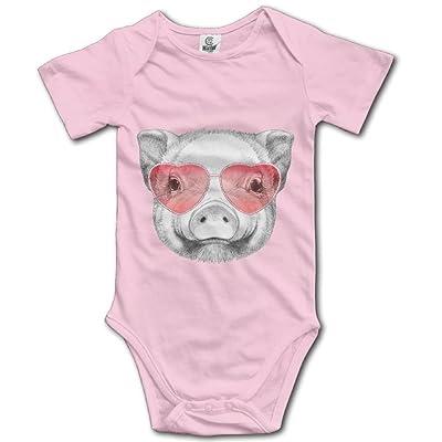 KunYBC 221 Baby Onesies Cute Pig Unisex Toddler Bodysuit Summer Short Sleeves Romper Jumpsuits