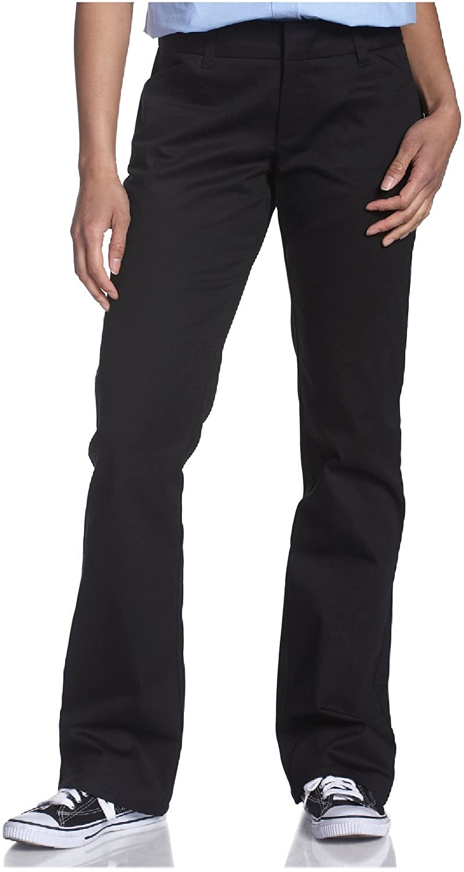 Dickies Girl Junior's College Bootcut Pant (1, Black)