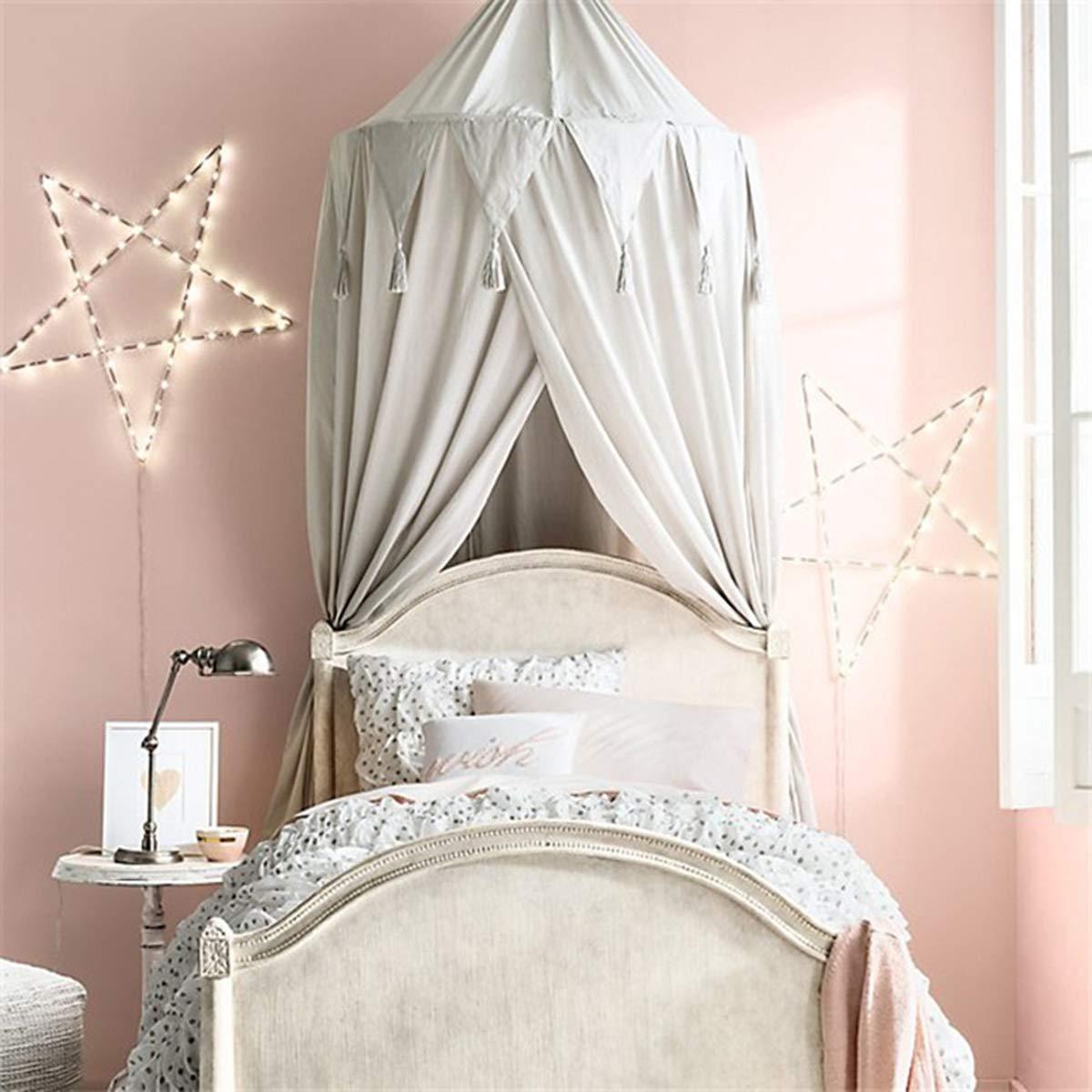 Benradise Dosel de cama para beb/é altura 240 cm blanco Blanco decoraci/ón mosquitera dosel de cama gasa de ensue/ño ni/ña carpa de princesa leer//juego c/úpula