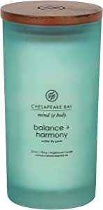 Chesapeake Bay Candle Scented Candle, Balance + Harmony (Water Lily Pear), Large
