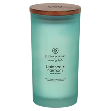 Chesapeake Bay Candle Mind & Body Large Scented Candle, Balance + Harmony (Water Lily Pear)