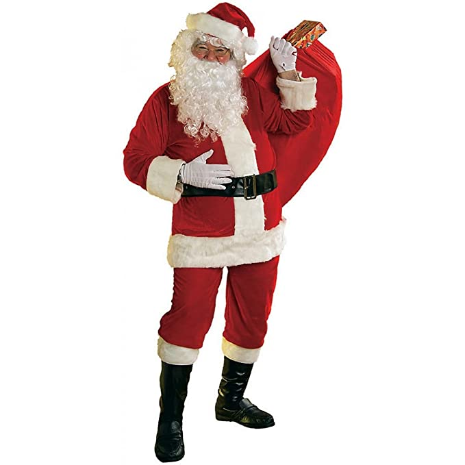 Amazon.com: Rubies Costume Adult Mens suave traje de Santa ...