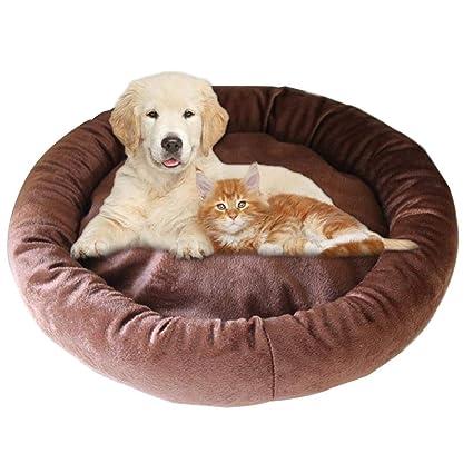 Augproveshak - Cama para Perro, de algodón y Terciopelo, para Mascotas, pequeña,