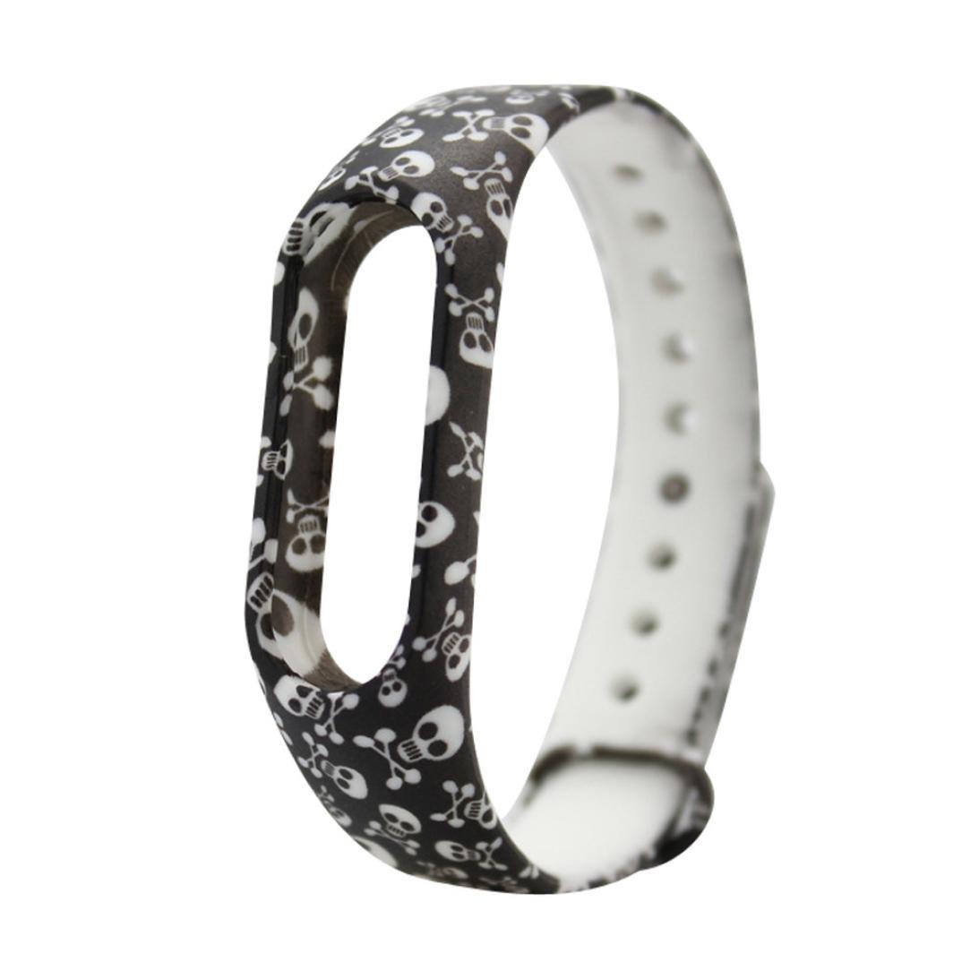 Squarex 43/cm pour Xiaomi Mi Band 2. Bracelets de montre de remplacement en silicone couleur unie