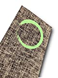 Focused Lyfe Natural Eco-Conscious Jute Yoga Mat (GUIDE LINES Tiger Eye Brown) For Sale