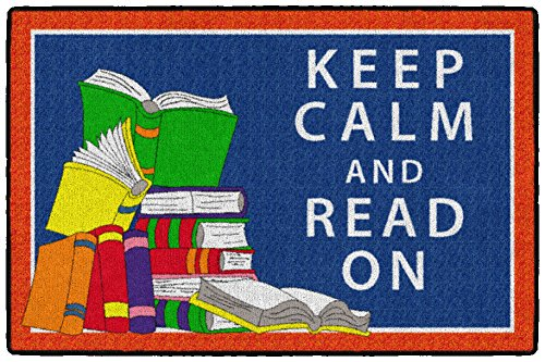 Flagship Carpets CE349-08W Keep Calm and Read on, Multi by Flagship Carpets