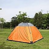 Webetop 3-4 Person Double Layer Quick Automatic Outdoor Camping Quartet Tent (Orange)