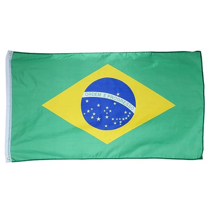 Wenquan,Estandarte Bandera brasileña poliéster 3 x 5 pies 90 x 150 ...