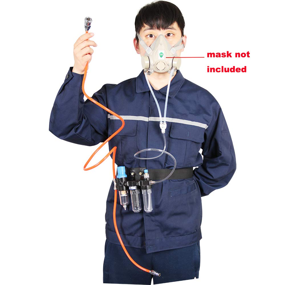 Supplied Air System for Spraying Respirator Gas Mask----Mask Not Included, Fit Bayonet Connection Mask, Smooth Breathing by Chudeng (Image #3)