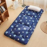 JL&LU Japanese-style Polyester Summer Mat Tatami Thick Mattress Portable Foldable Sleeping Pad-A 90x200cm(35x79inch)