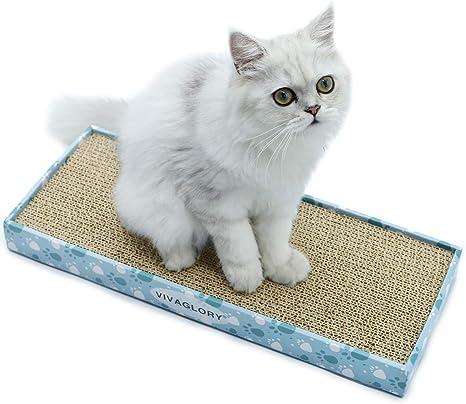 VIVAGLORY Cartulina Scratcher para Gatos Reversible Alfombras ...