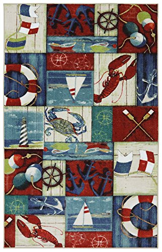Mohawk Home Escape N Is For Nautical Multi Rug, 8'x10'- Family Room Ideas - Make quick & easy changes to any room in your home in minutes by changing the rug - add color & patterns