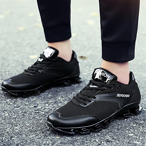 MMM Chaussures Hommes Chaussures Tulle Printemps Automne Confort Athlétique Chaussures Basketball Chaussures Mi-Mollet Bottes Black 0O03drva