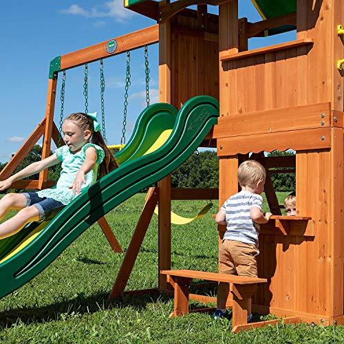 Backyard Discovery Somerset All Cedar Wood Playset Swing Set - 65012 model