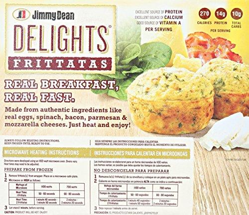 Jimmy Dean Bacon Spinach Delight Frittata 6 Ct Frozen Amazon